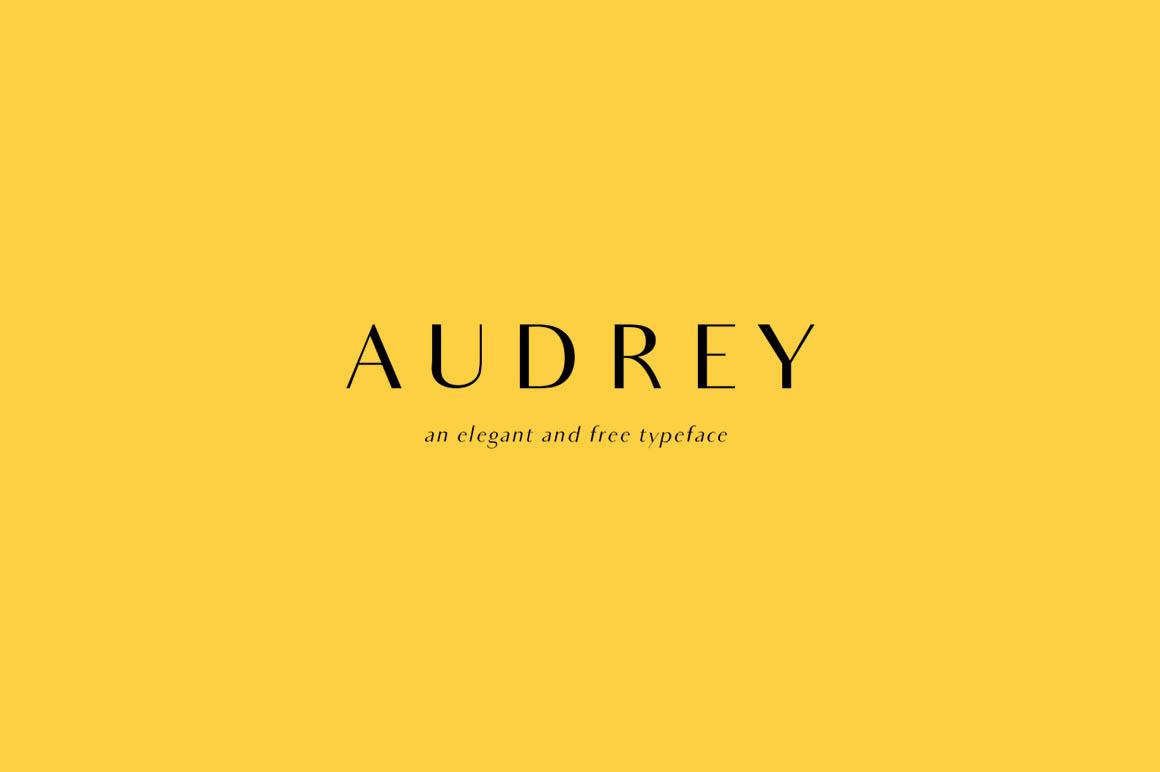 The font Audrey.