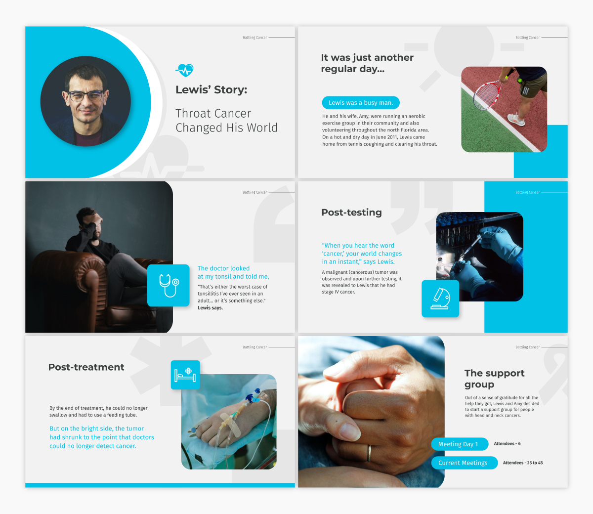 A health keynote template available to customize in Visme.