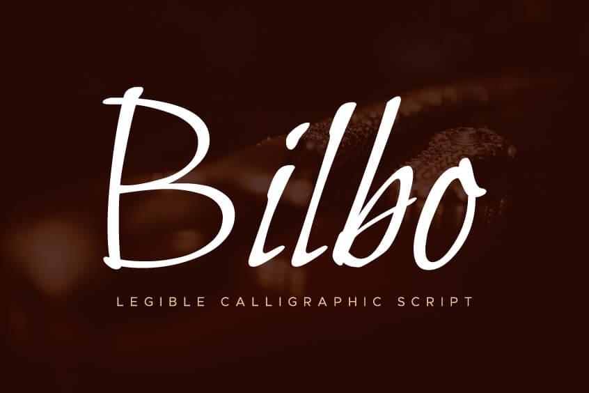 The font Bilbo.