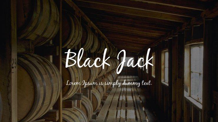 The font Black Jack.