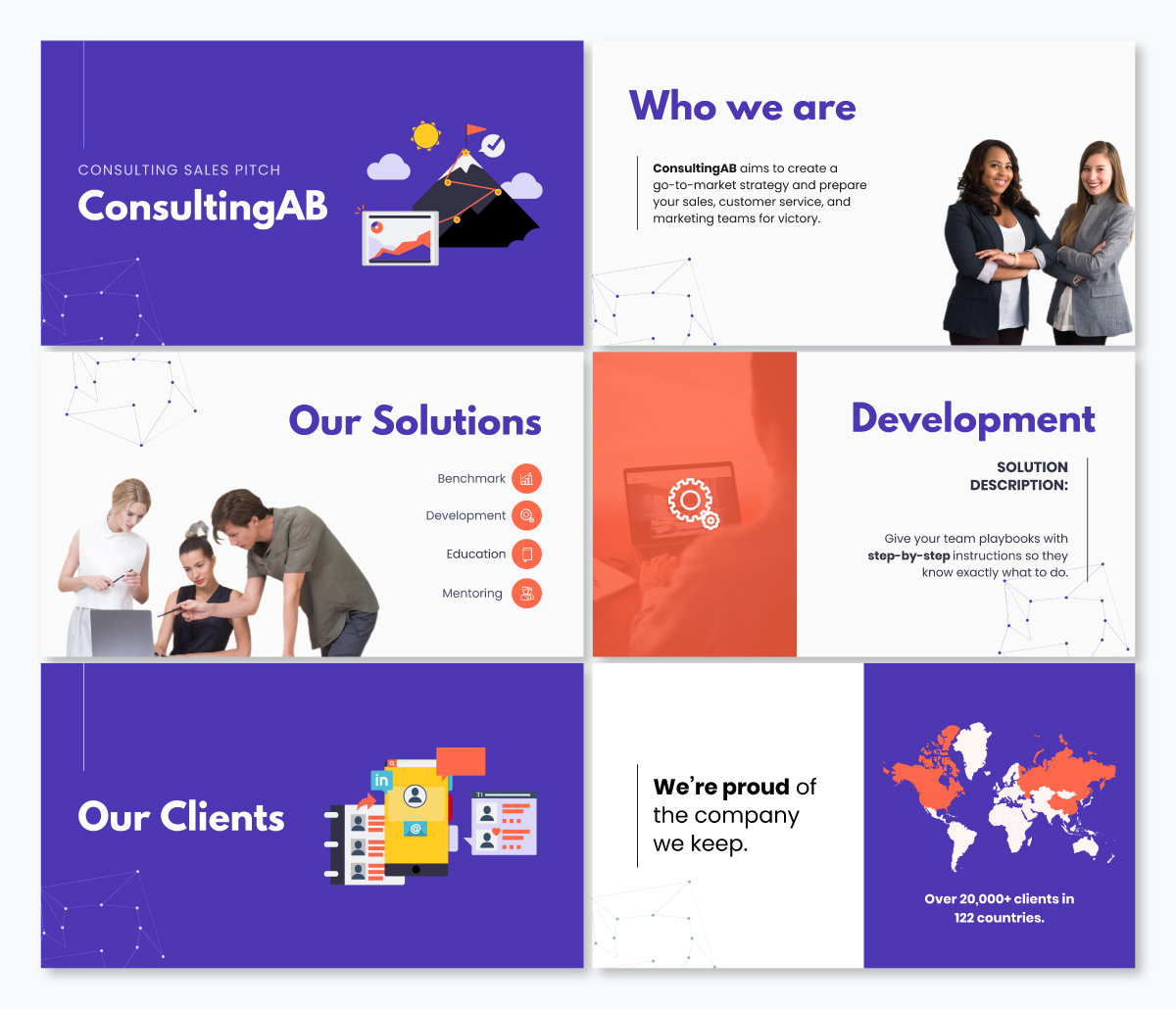 A consulting keynote template available in Visme.