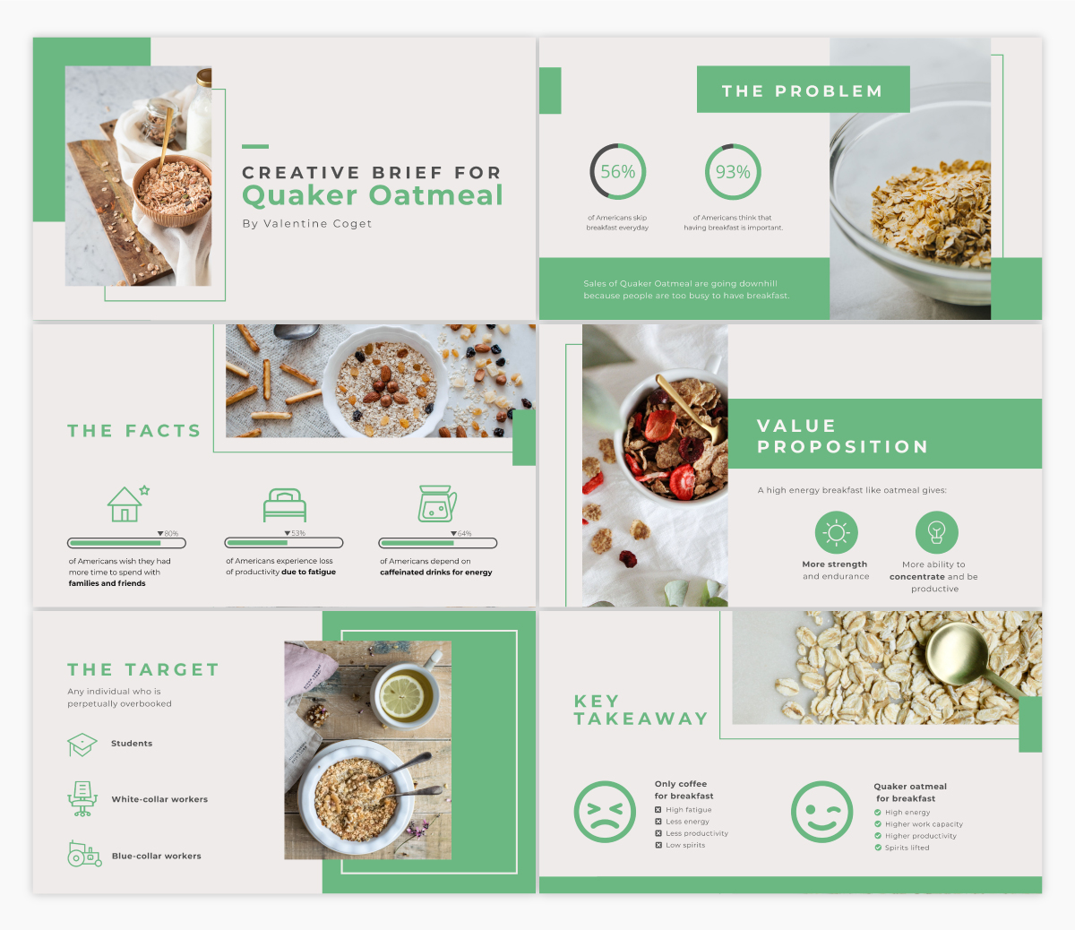 A creative brief presentation template available in Visme.