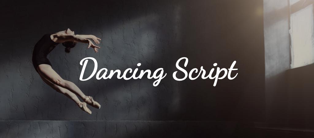 The font Dancing Script.