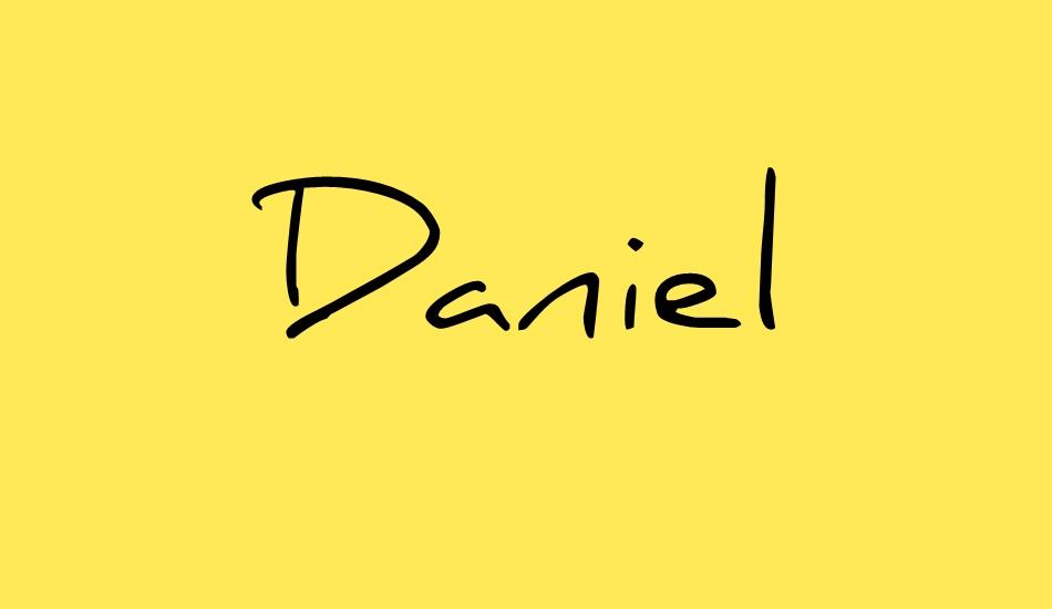 The font Daniel.