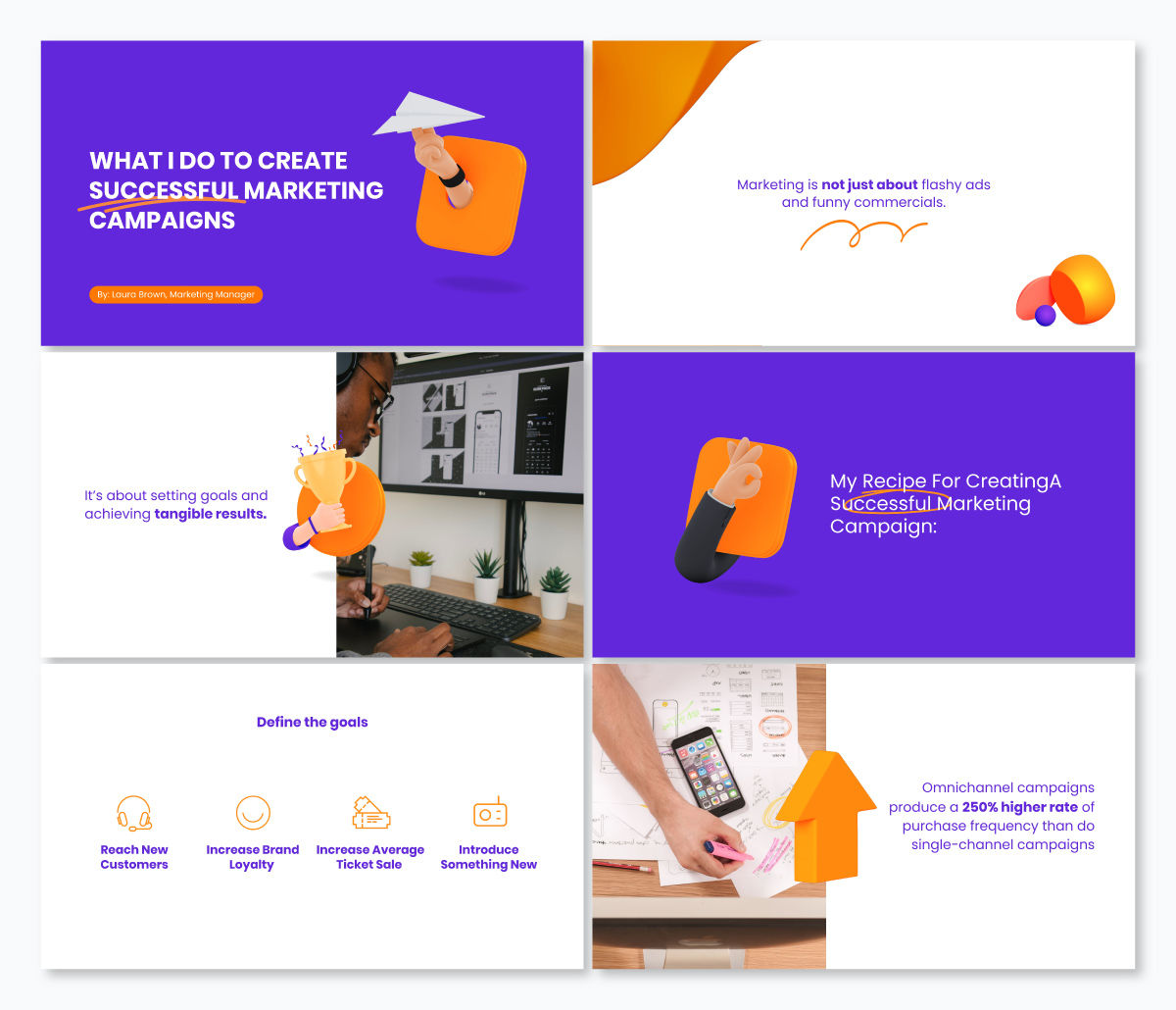 A digital marketing keynote template available in Visme.