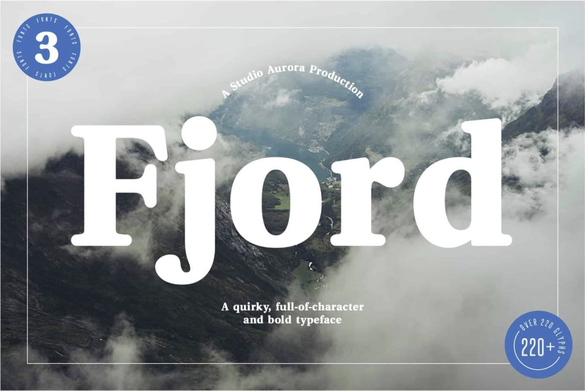 The font Fjord.