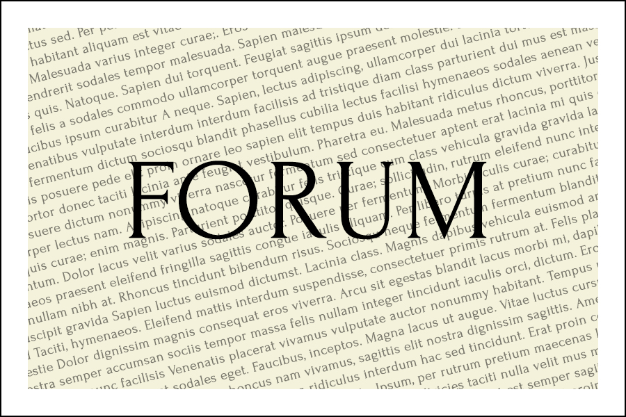 The font Forum.