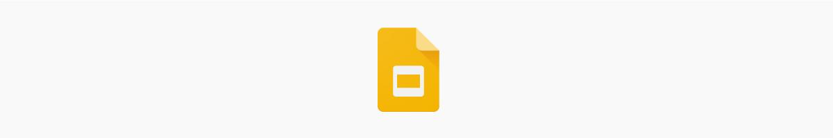 The Google Slides logo.