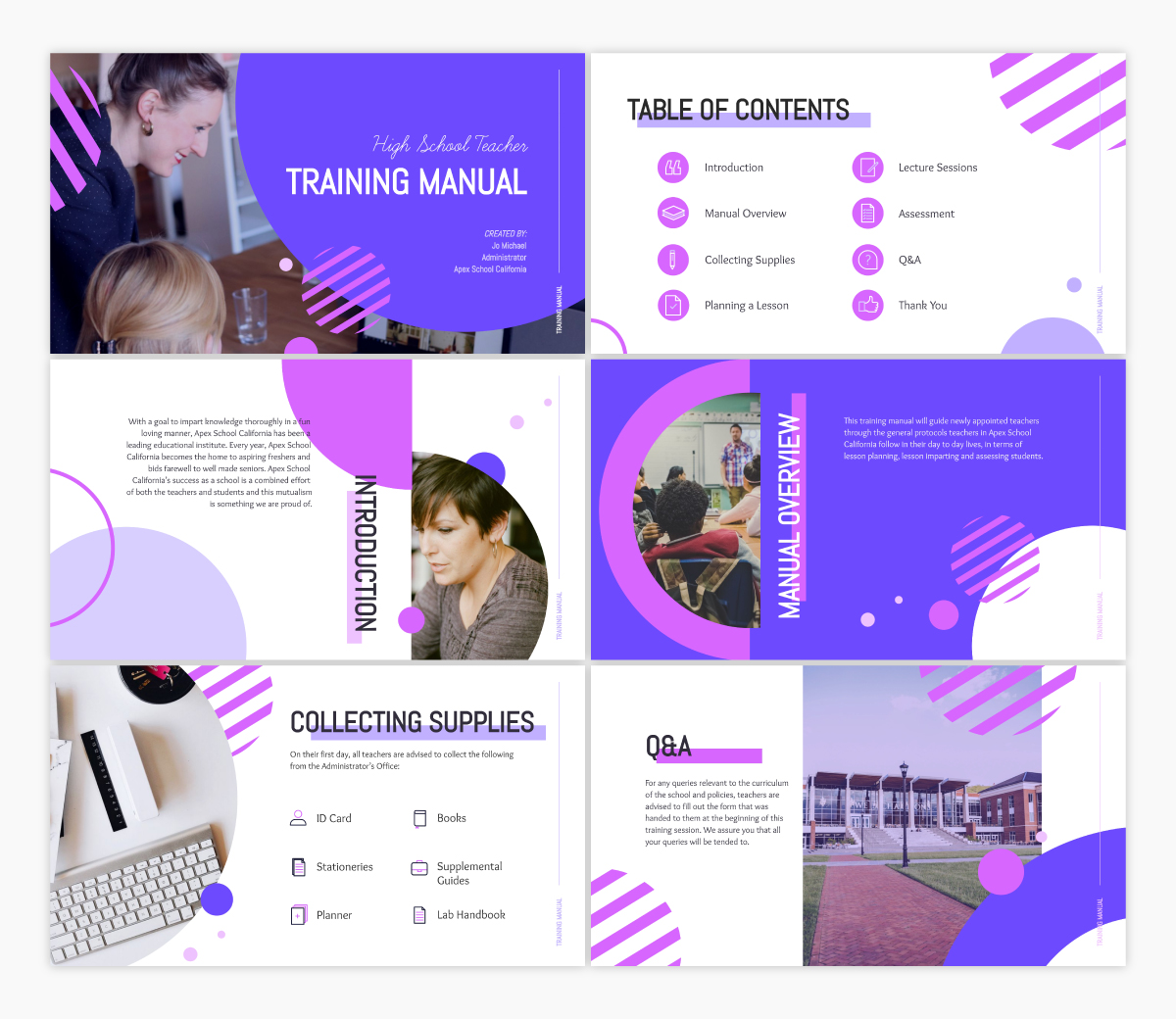 A training keynote template available in Visme.