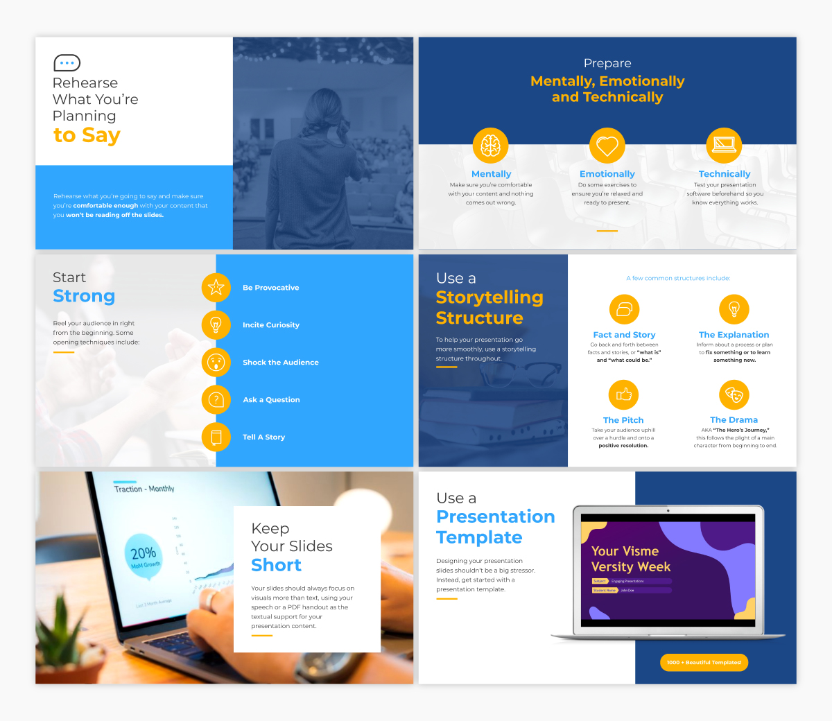 An informational keynote template available in Visme.