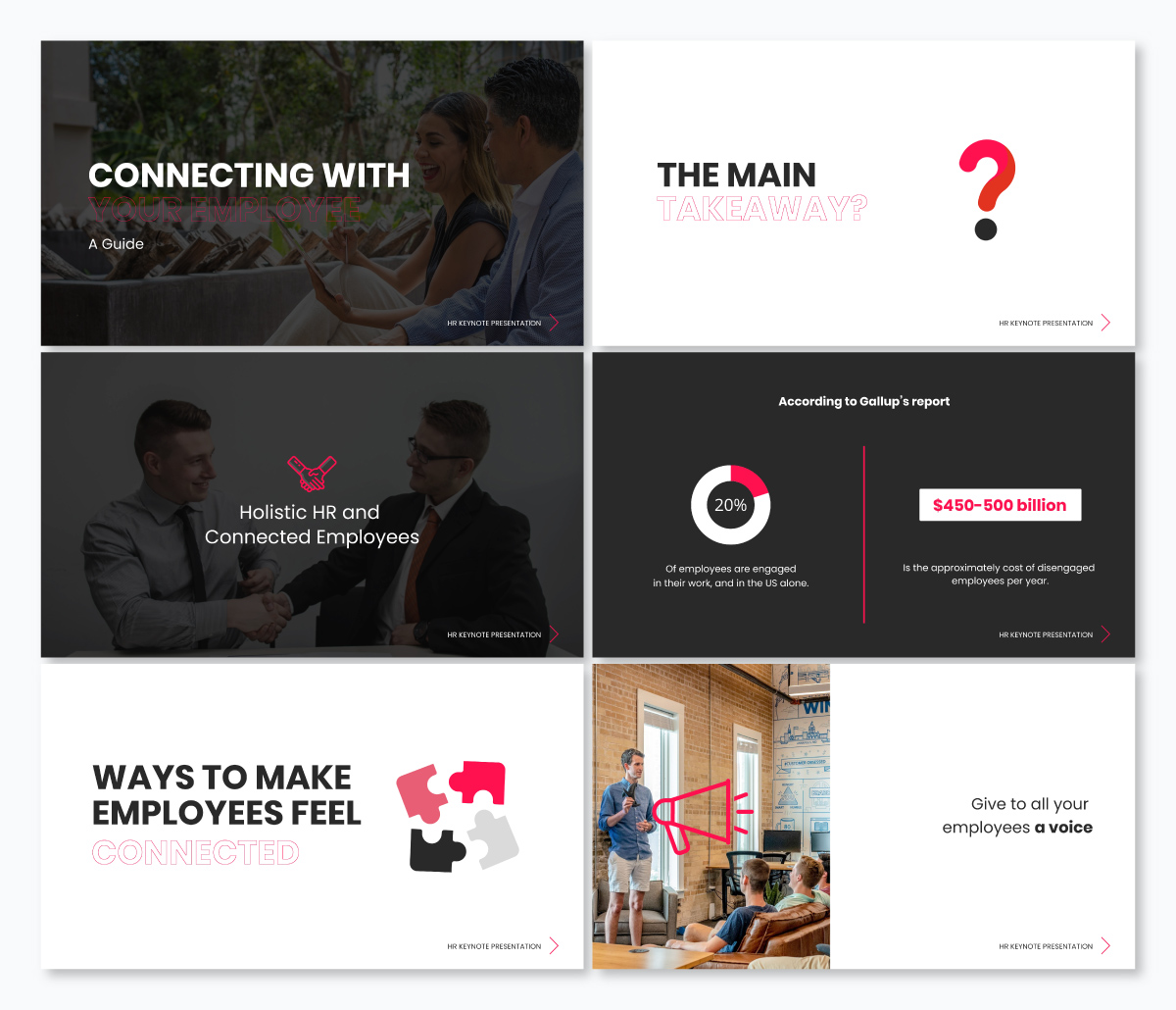 An HR-focused keynote template available in Visme.