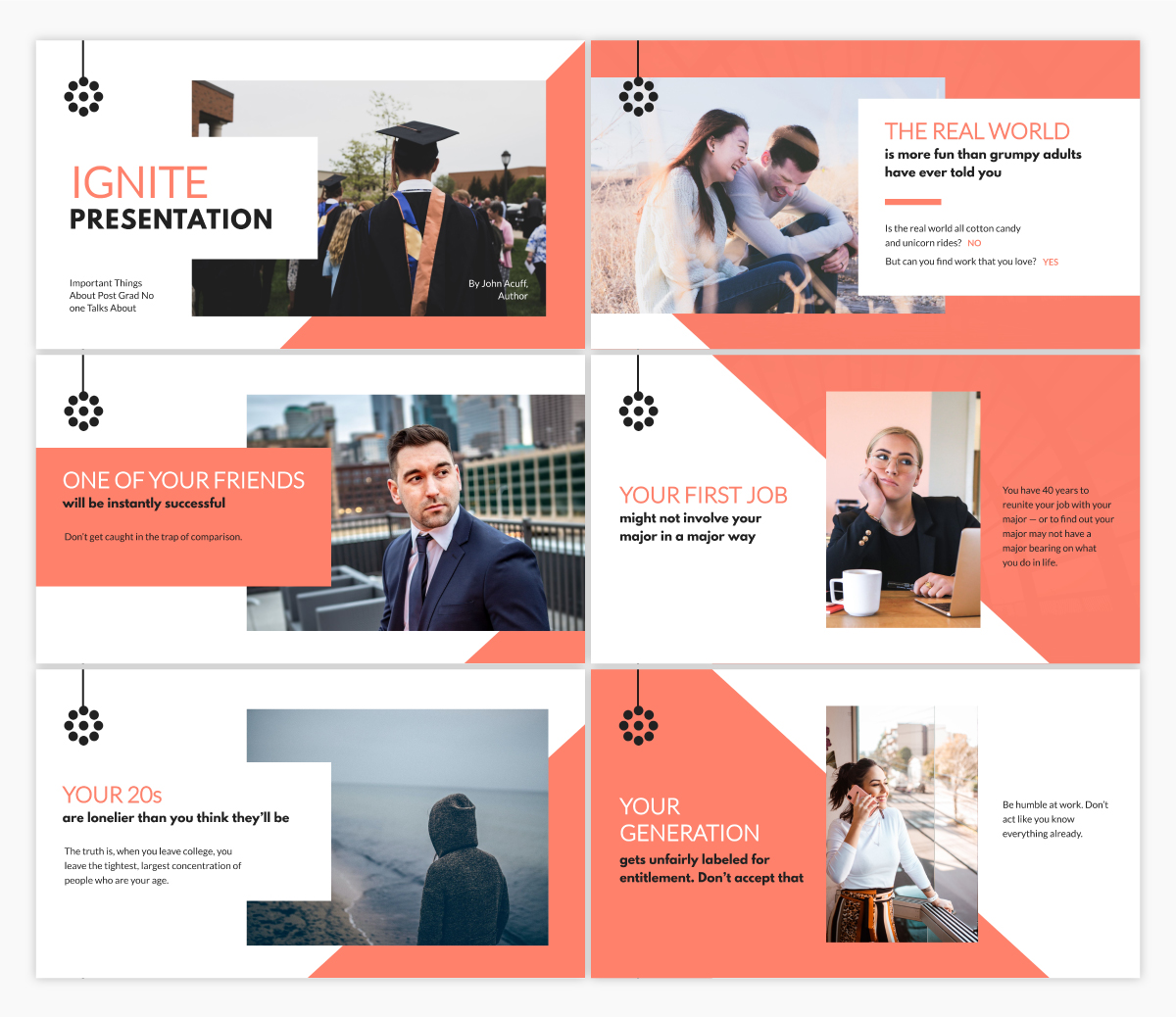 An Ignite presentation template available in Visme.