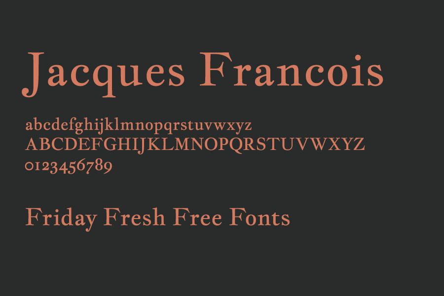The font Jacques-Francois.