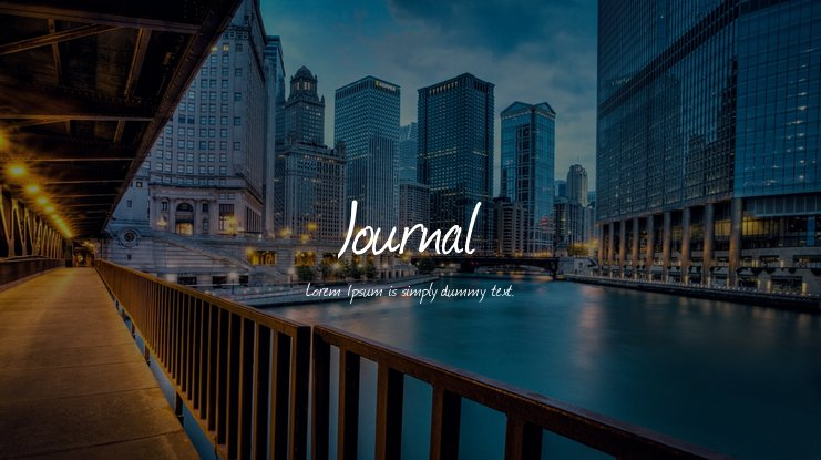 The font Journal.