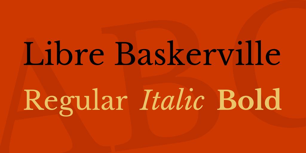 The font Libre-Baskerville.