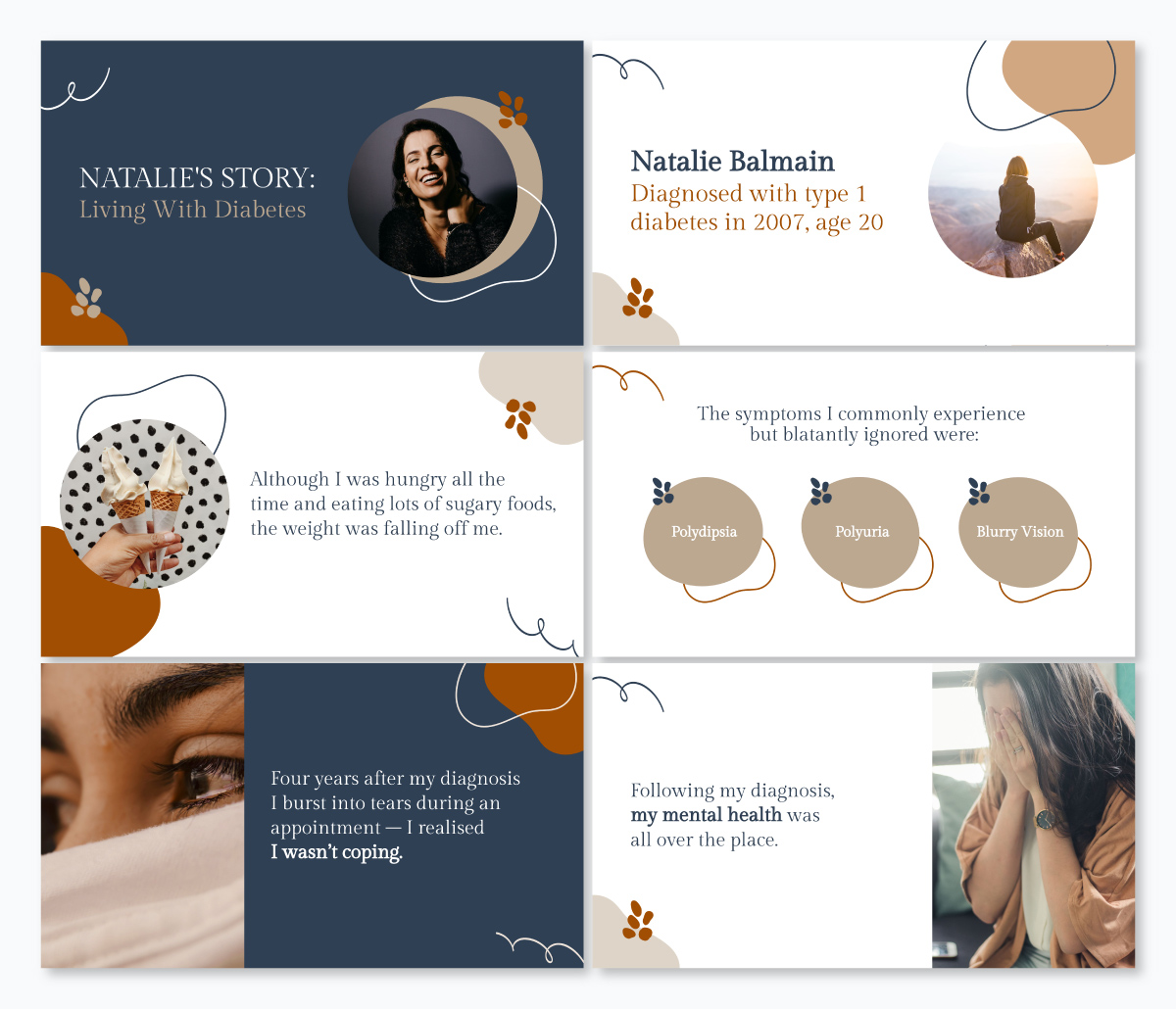 A life story keynote template available in Visme.