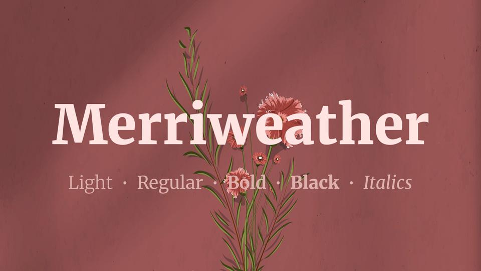 The font Merriweather.
