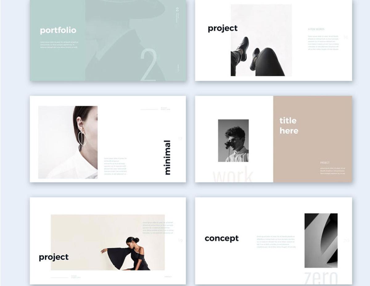 A minimalistic presentation slide design.