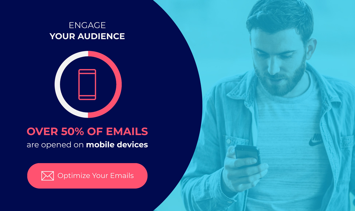 A bite-sized infographic sharing mobile email stats.