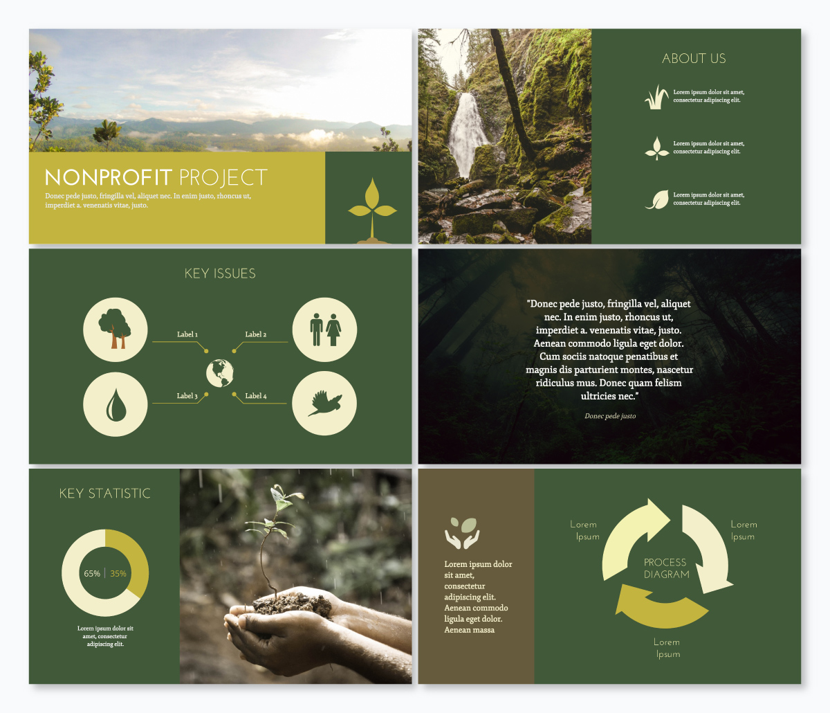 A nonprofit keynote template available in Visme.