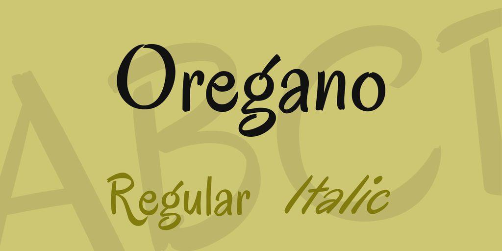 The font Oregano.