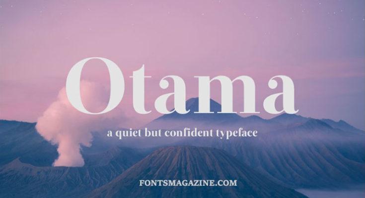 The font Otama.