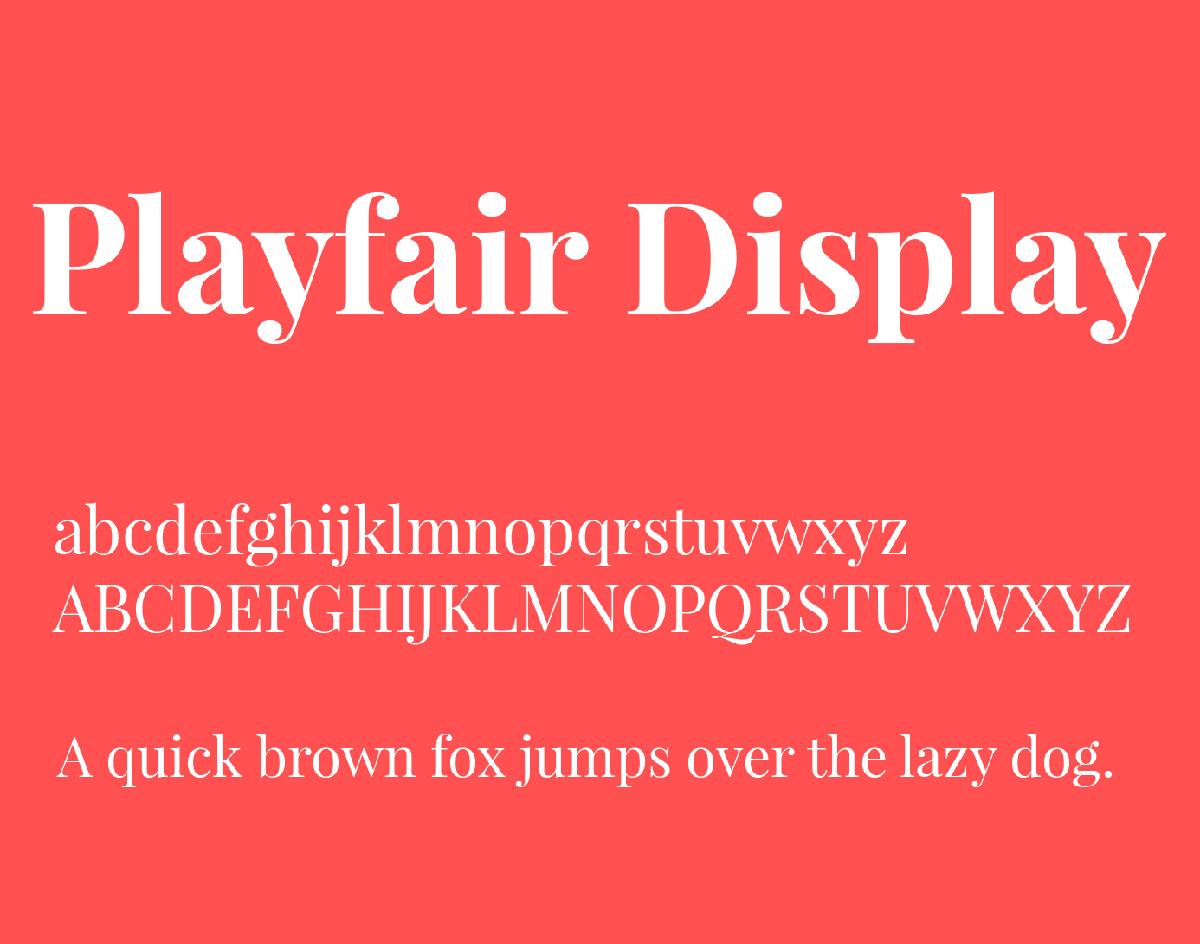 The font Playfair Display.