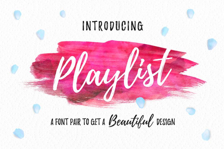 The font Playlist Script.