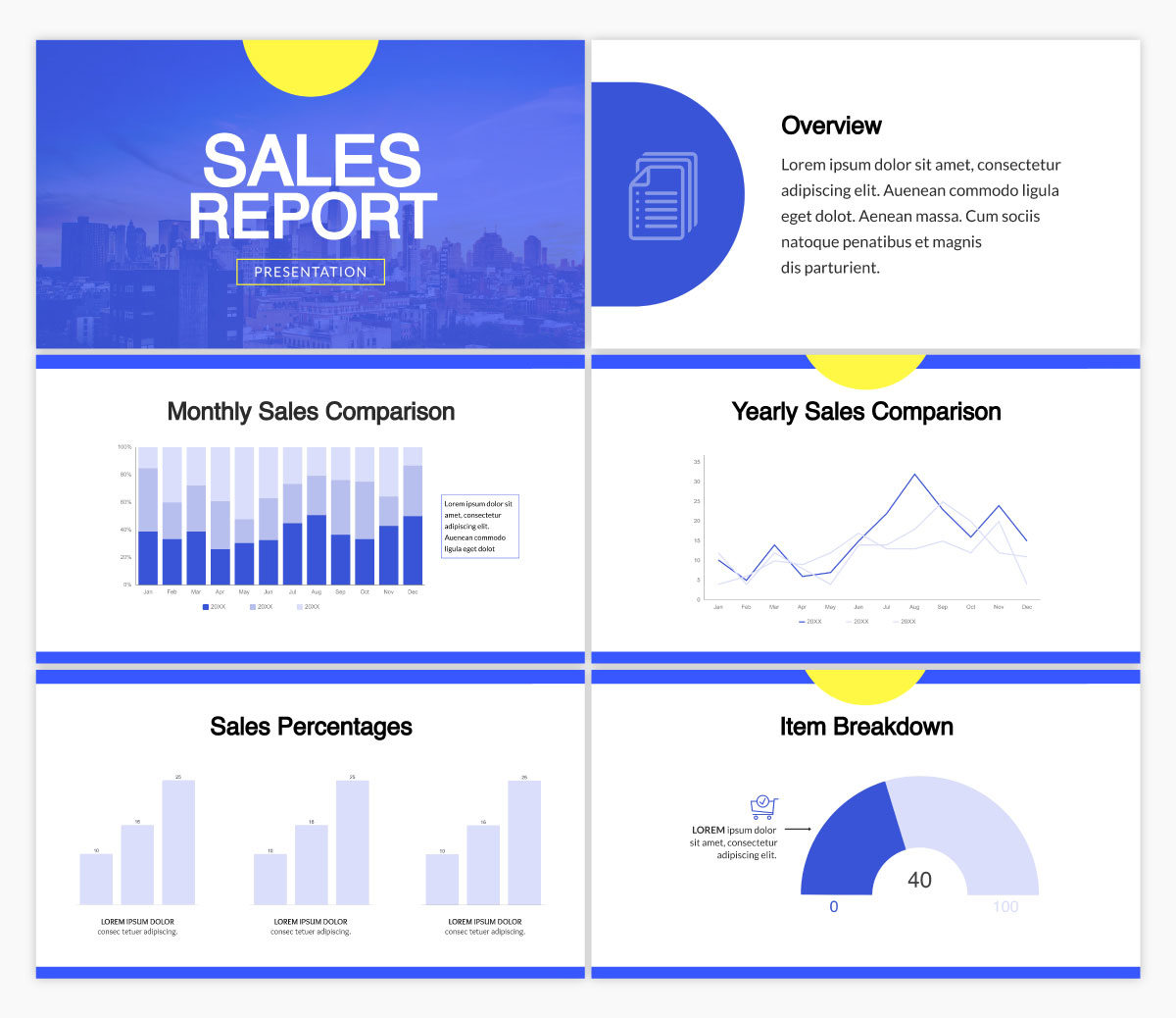A report presentation template available in Visme.