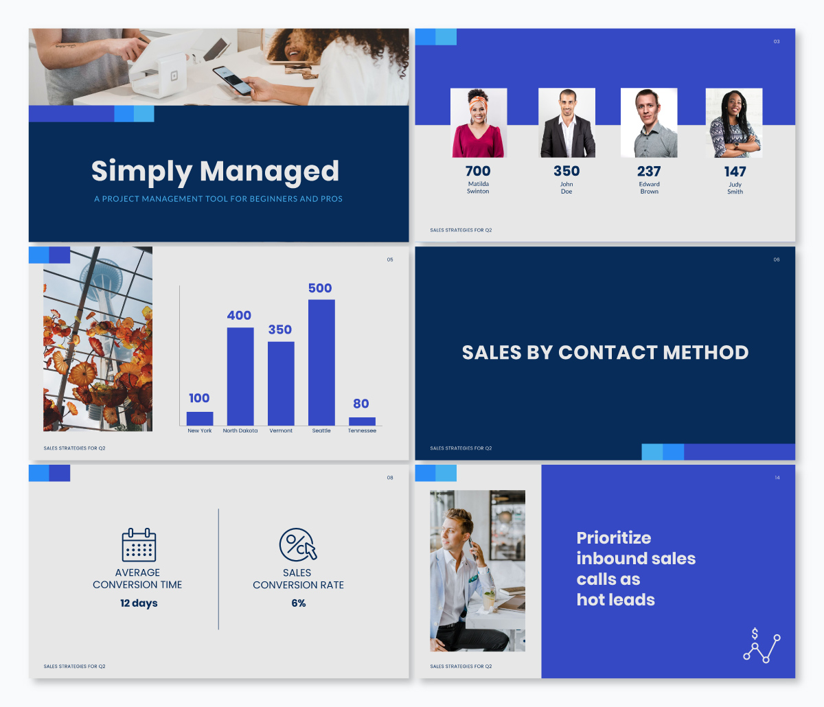 A sales keynote template available in Visme.