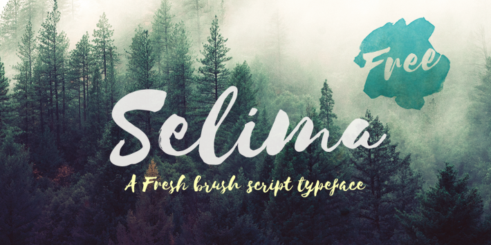 The font Selima.