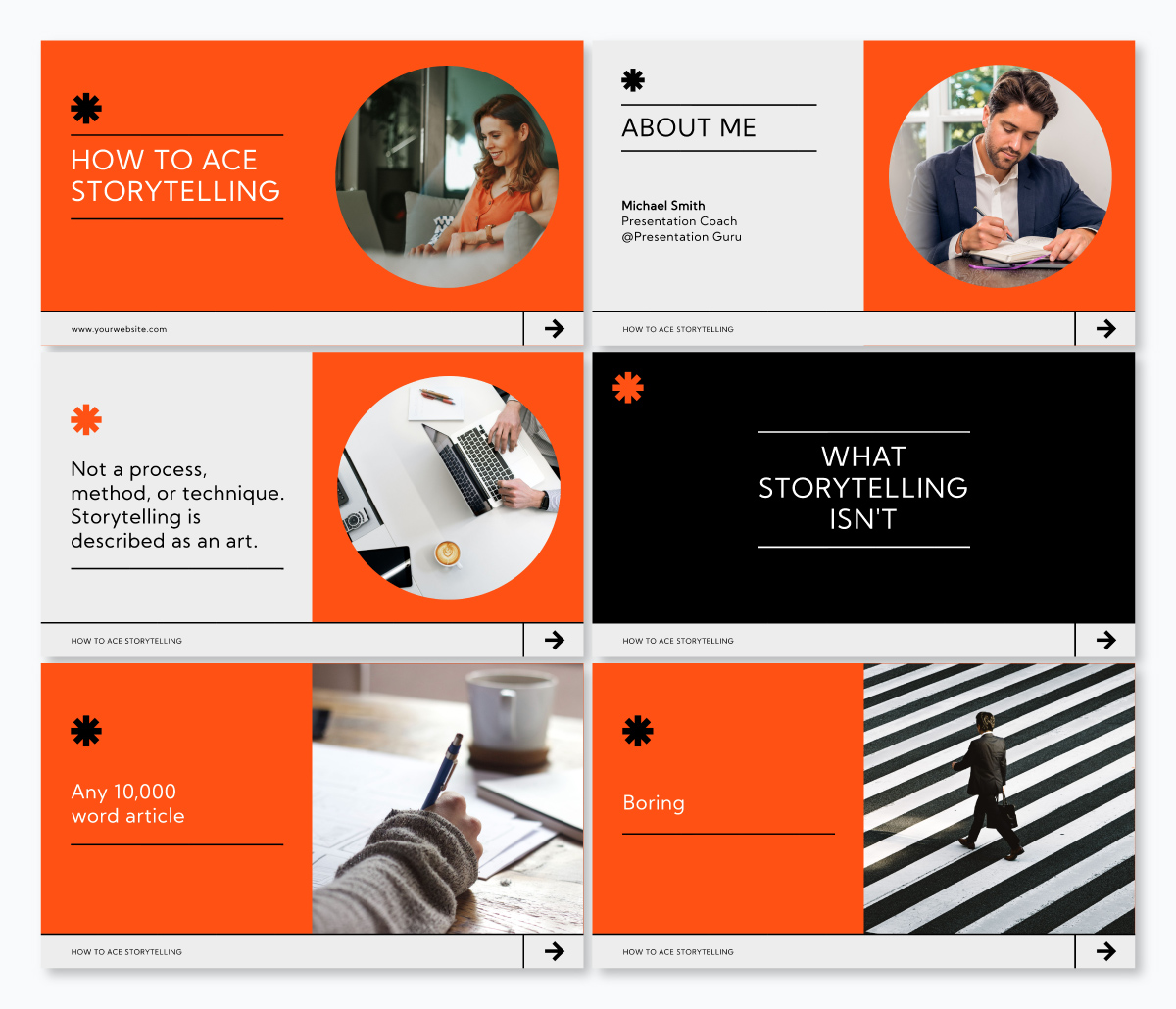 A storytelling keynote template available in Visme.