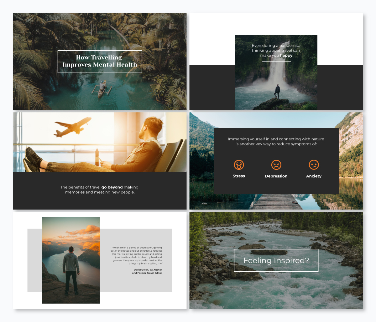 A travel keynote template available in Visme.