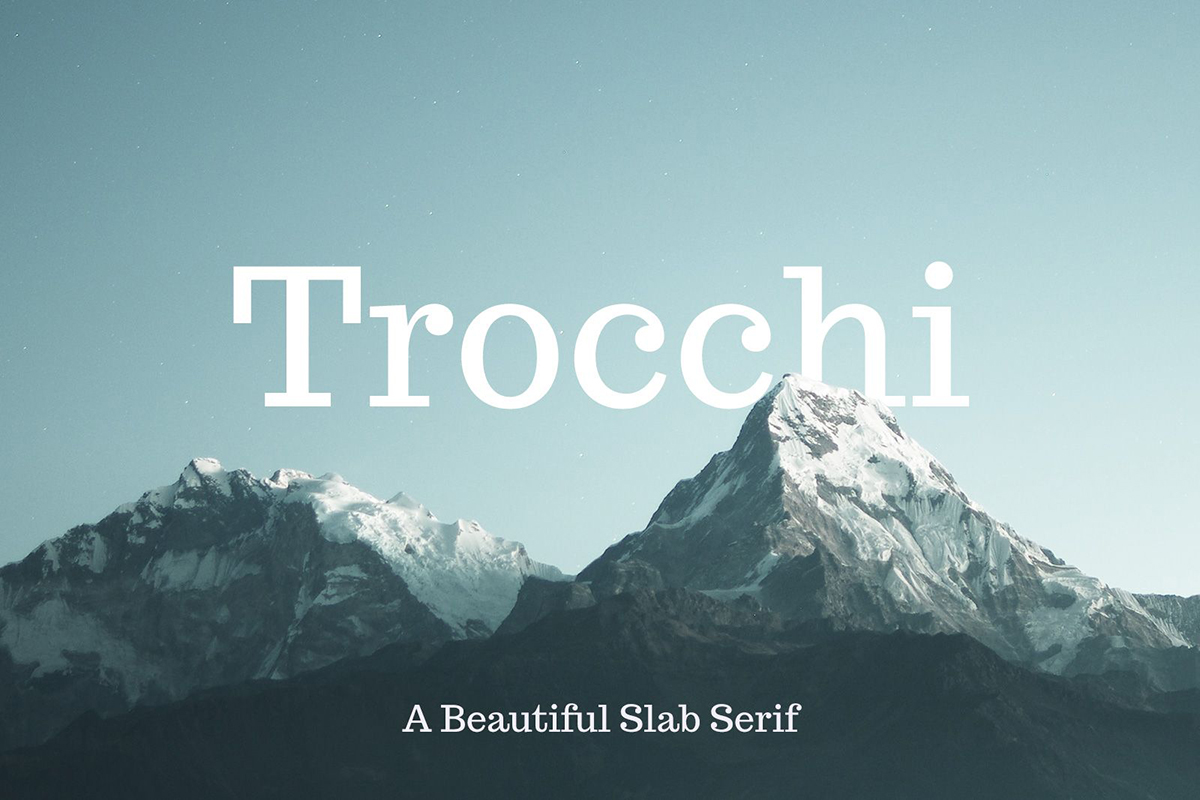 The font Trocchi.