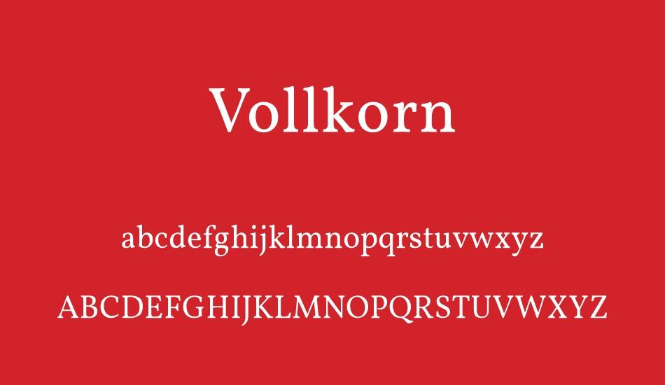 The font Vollkorn.