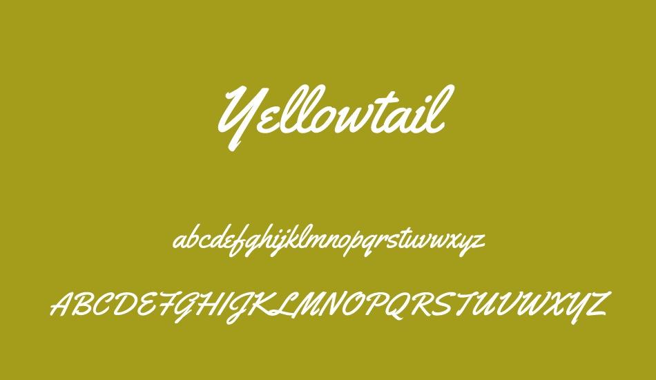 The font Yellowtail.