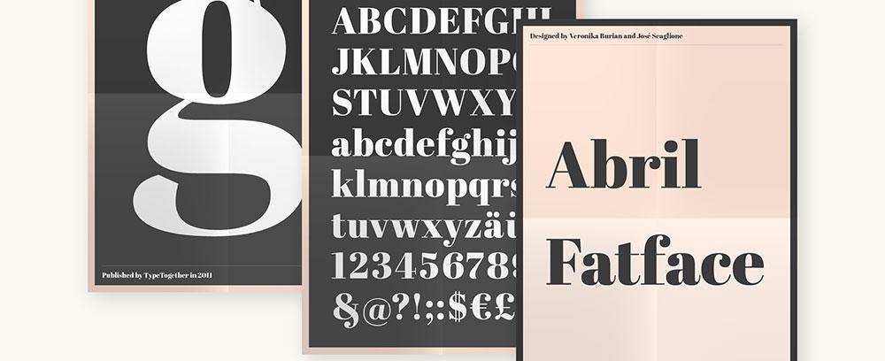 The font Abril Fatface.