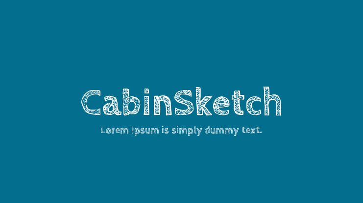 The font CabinSketch.