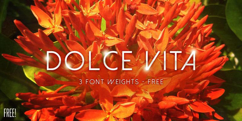 The font Dolce Vita.