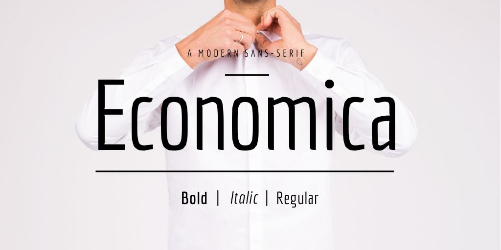 The font Economica.