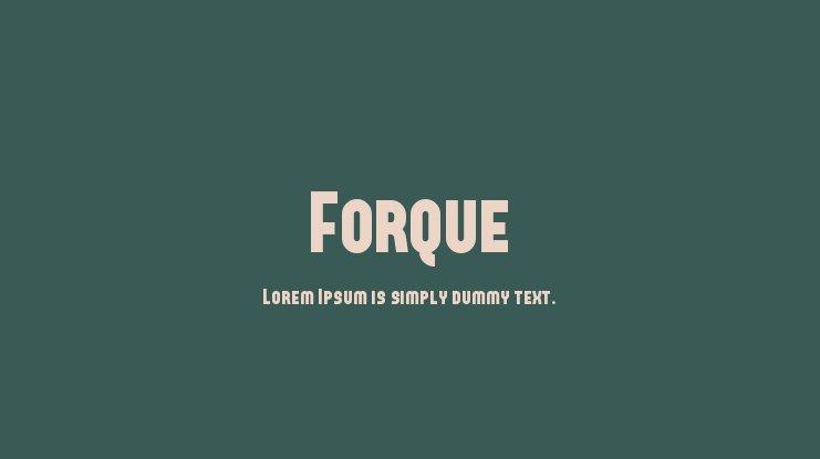 The font Forque.