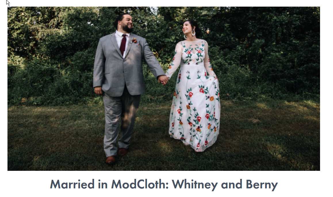 A screenshot of a content marketing campaign by ModCloth.