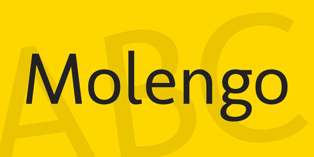 The font Molengo.