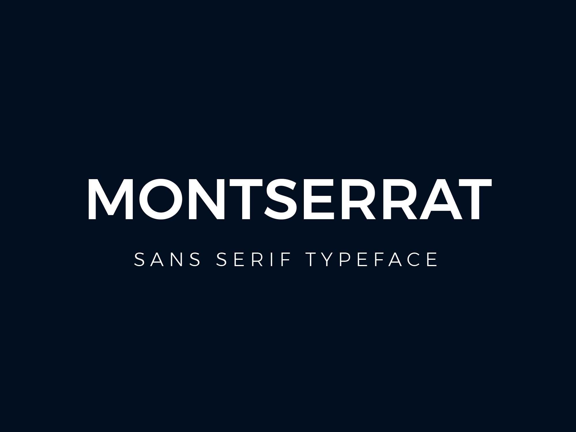 The font Montserrat.