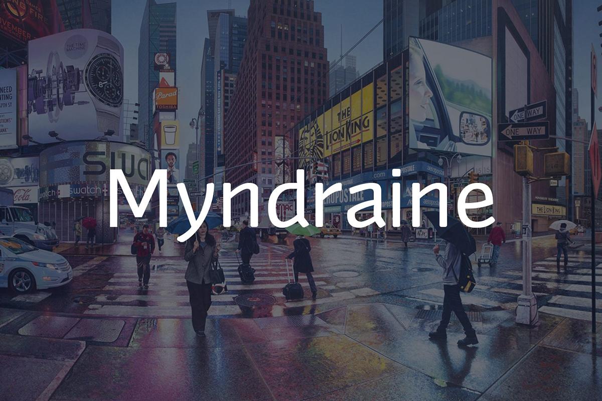 The font Myndraine.
