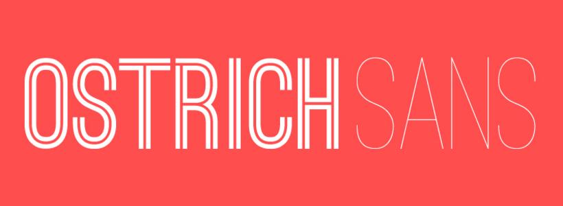 The font Ostrich Sans.