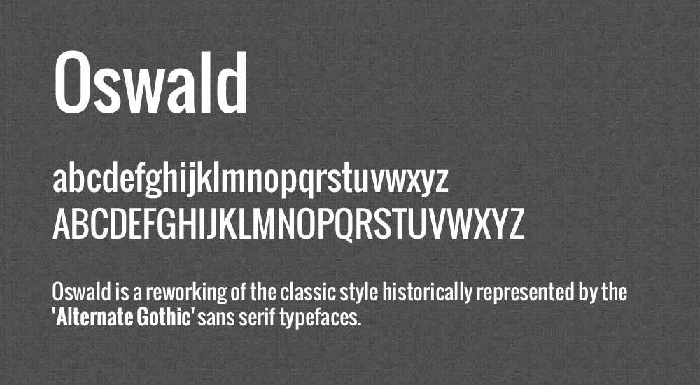 The font Oswald.