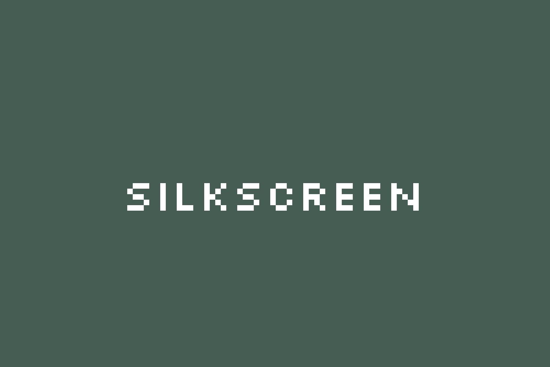 The font Silkscreen.
