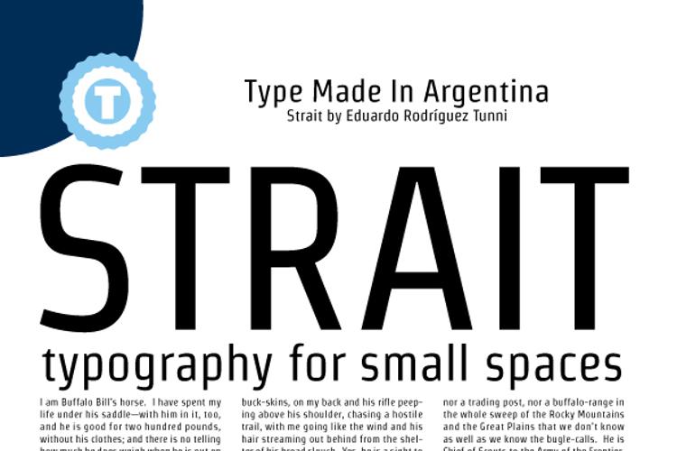 The font Strait.