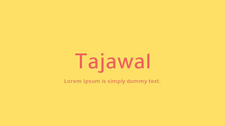 The font Tajawal.